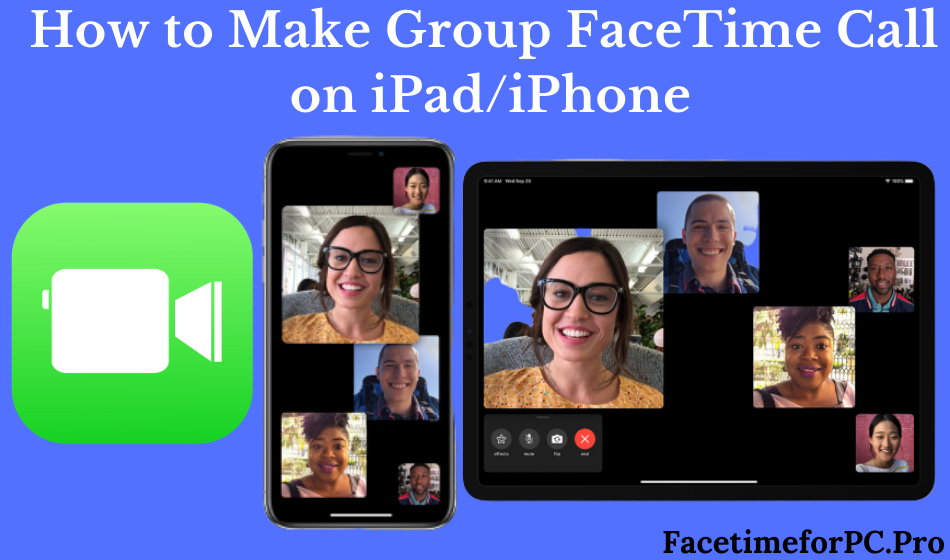 group facetime call on iphone or ipad